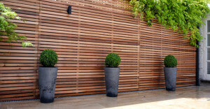 Cedar cladding used externally