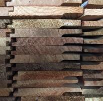 Cedar cladding with shiplap profile