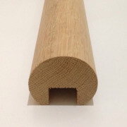 Oak Mopstick Handrail End Profile