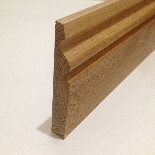 Oak skirting board ogee whitmore 39 s timber for Hardwood skirting