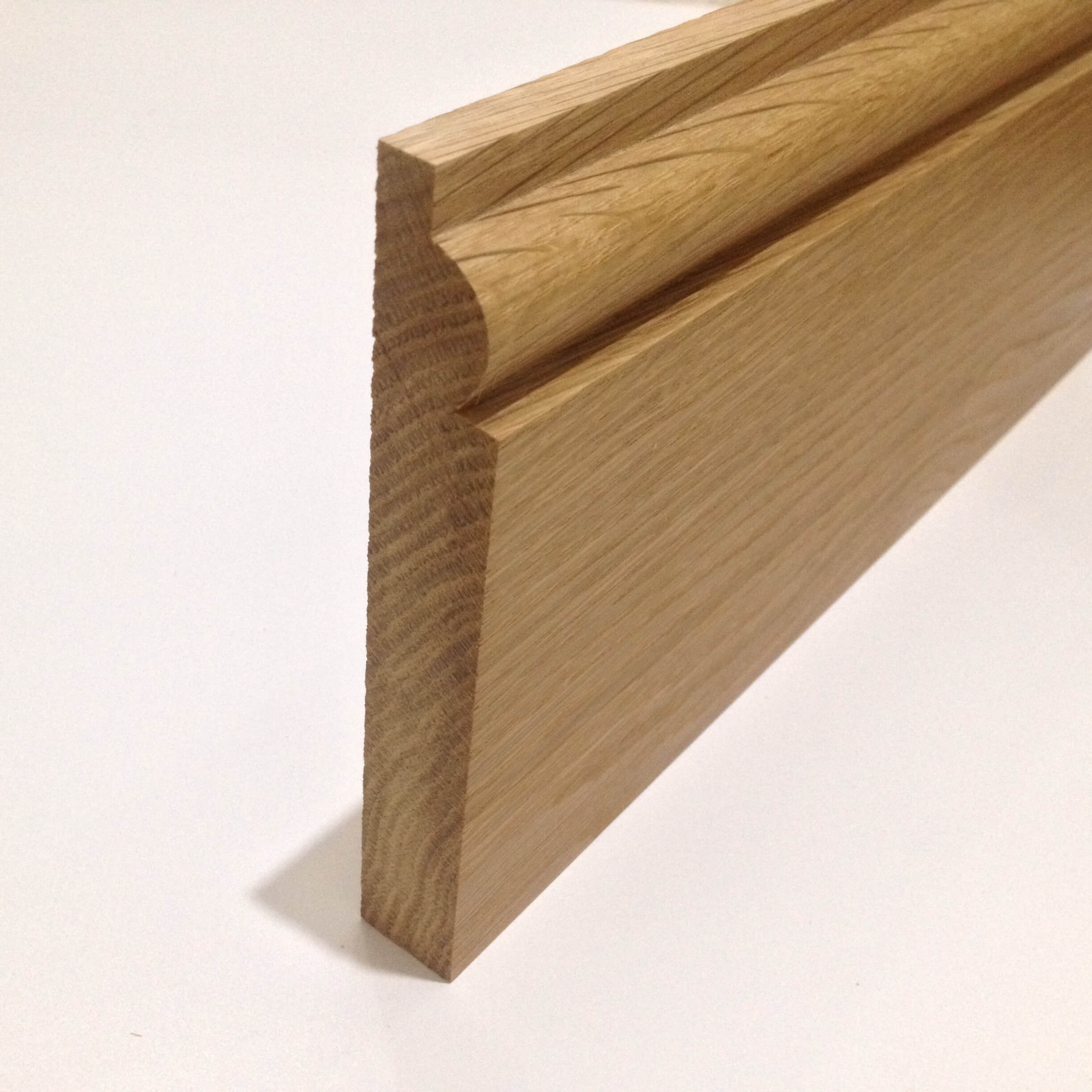 Oak skirting board torus whitmore 39 s timber for Hardwood skirting
