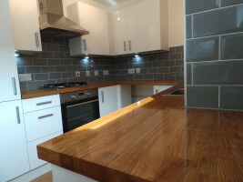 English oak worktop
