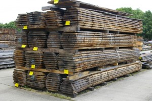 Hardwood timber stacked in our yard