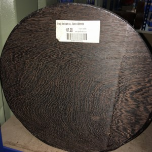 Wenge Bowl Blank 75mm x 300mm