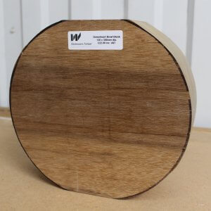 Greenheart Bowl Blanks - 120mm x 300mm diameter