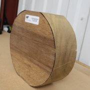 Greenheart Bowl Blanks - 120mm x 300mm diameter sideview