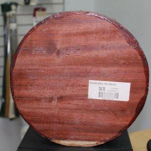 Padouk Bowl Blank - 75mm x 250mm
