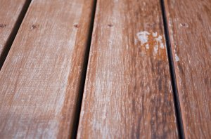 Timber decking before treatment - Whitmore's Timber