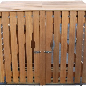 Wooden Double Bin Cover - Whitmore's Timber