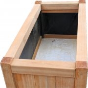 Wooden Planter 500 x 1000 x 600mm - inside view - Whitmore's Timber