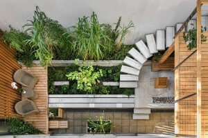 creative garden decking space